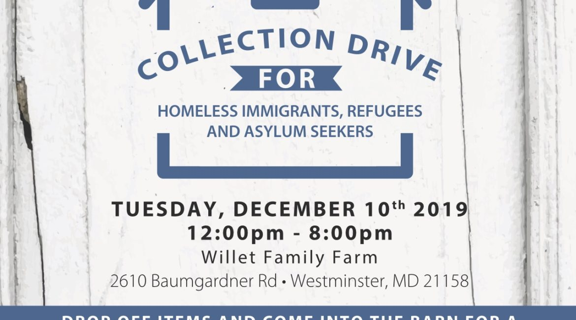 Collection Drive for Immigrants, Refugees & Asylum Seekers